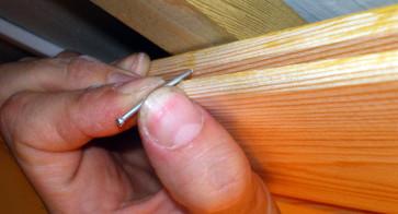 Крепление деревянной вагонки гвоздями