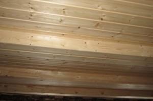 деревянное перекрытие. вид снизу
