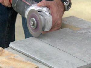 Техника резки плитки болгаркой