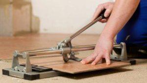 Как резать плиткорезом