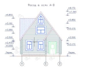 Рабочий рисунок дома