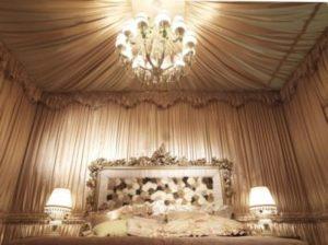 Декор потолка и стен тканью