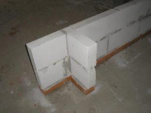 Перегородки из газосиликатных блоков