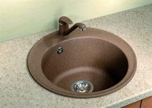 Столешница для кухни с круглой мойкой