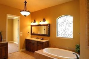 Вариант освещения ванной