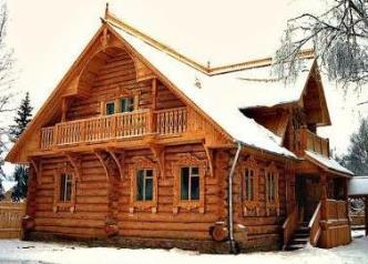 Современные дома из бревен
