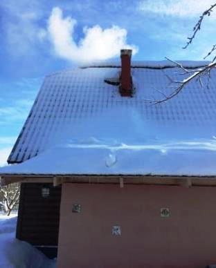 Деревянный дом с печью