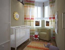 Вариант дизайна детской комнаты