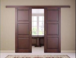 Дверь открывающаяся вдоль стены