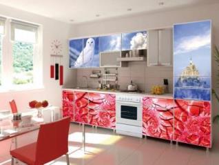 Фасады для кухни с фотопечатью