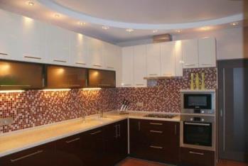 Двухуровневый потолок для кухни