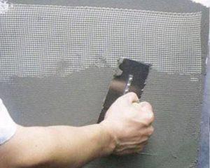 Технология наклеивания сетки