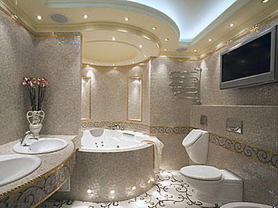 Освещение в ванной комнате примеры