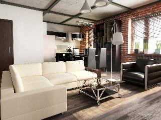 Стиль Лофт в дизайне интерьера квартиры