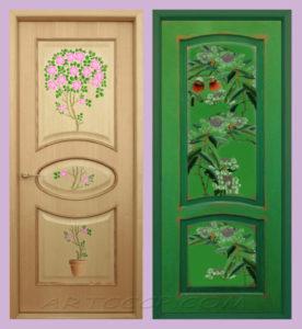 двери с декупажем картинки