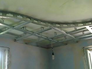 устройство каркаса двухуровневого потолка