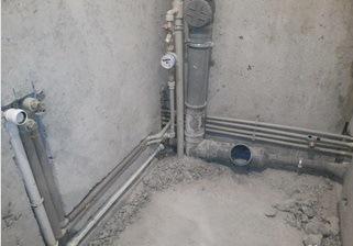Разводка сантехнических труб в ванной